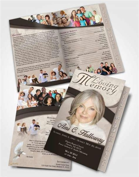 funeral brochure template funeral program templates obituary memorial brochures