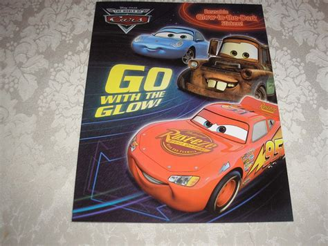 Cars Reusable Sticker Book by Disney Pixar Cars Reusable Glow In The Dark Go With The