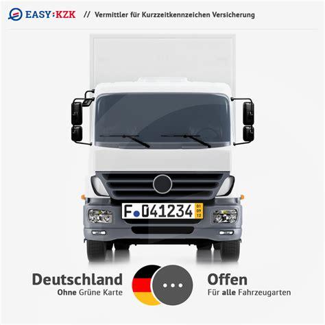Auto F R G Nstige Versicherung by Doppelkarte Versicherung Kurzzeitkennzeichen Versicherung