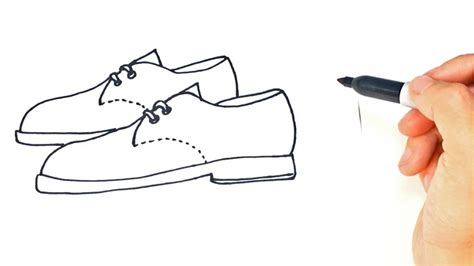 imagenes para niños de zapatos how to draw a pair of shoes step by step youtube