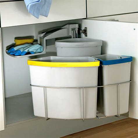 kitchen cabinet bin under unit kitchen waste bin set 40 litre swing out 502