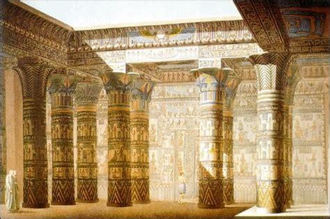 imagenes de columnas egipcias arquitectura egipcia grabado a color del templo de isis jpg