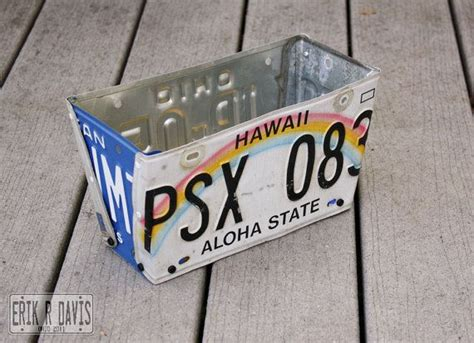 license plate craft projects license plate flower box hi 057 flower boxes license
