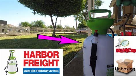 harbor freight greenwood  home garden sprayer youtube