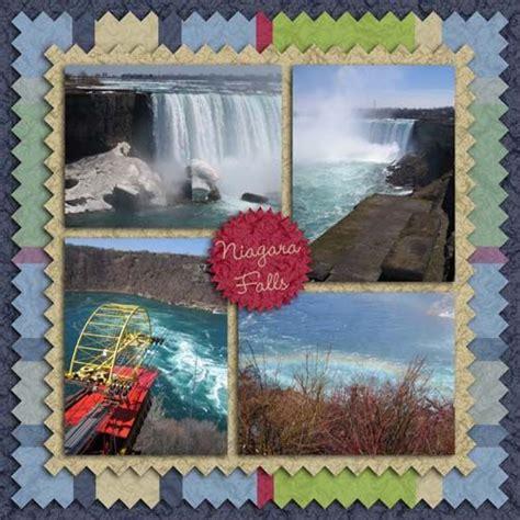 scrapbook layout waterfalls niagara falls scrapbook page layouts scrapbook bytes