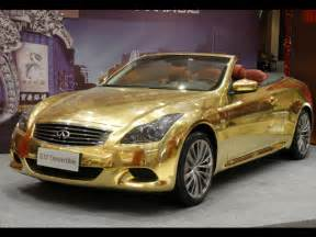 gold plated car hot car pictures gallery infiniti g37 sports car gold plate photo