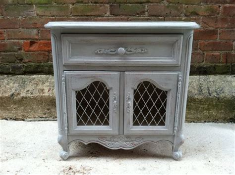 Reduced Cottage Grey Painted End Table Side Table Provincial Shabby Chic Furniture