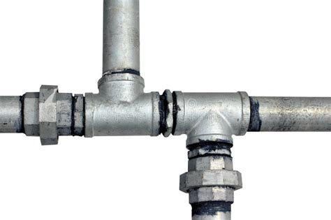 Buy Plumbing by Metal Water Pipes On A White Stock Image Image 15720981