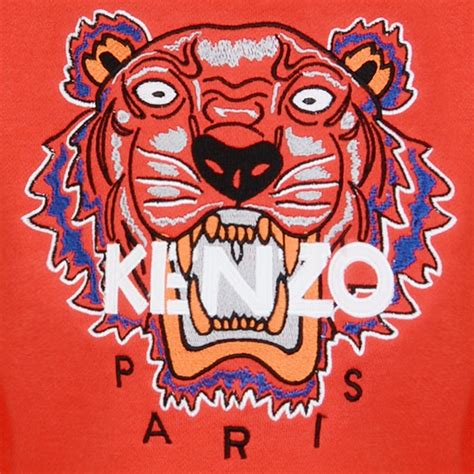 Kenzo Tiger kenzo tiger logo sweatshirt chocolate clothing