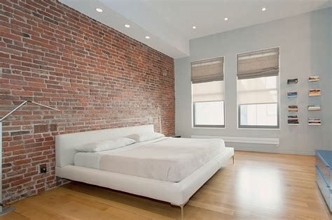 exposed brick wall idea for a stylish minimal bedroom decoist