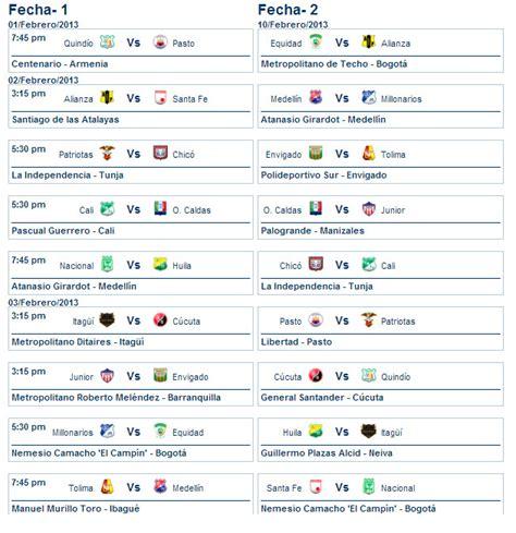 Calendario Futbol Colombiano F 218 Tbol Colombiano Calendario De La Primer Temporada De