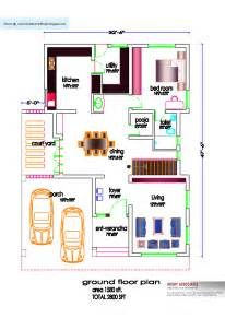 Floor House Plans In India South Indian House Plan 2800 Sq Ft Kerala Home Design