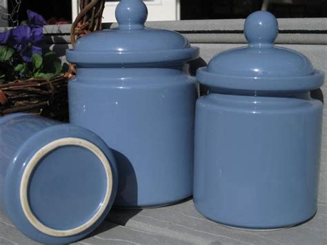 blue kitchen canister sets periwinkle blue canister set 3 canister set kitchen