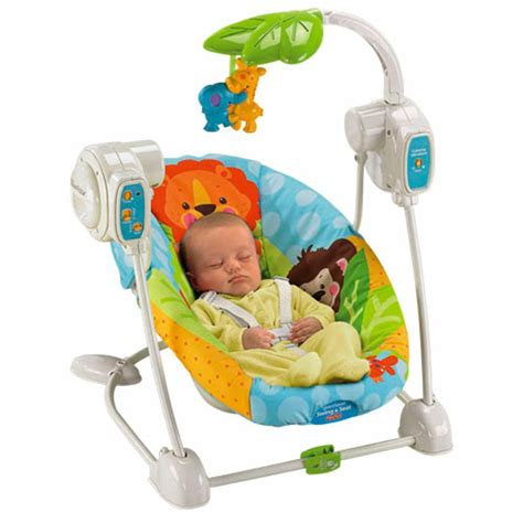 fisher price bouncers and swings buy fisher price precious planet blue sky space saver