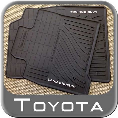 Toyota 2011 Floor Mats All Weather by 2008 2011 Toyota Land Cruiser Rubber Floor Mats All