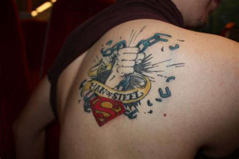 man of steel tattoo designs 27 awesome superman tattoos designs