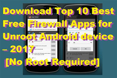 best firewall android top 10 best free firewall apps for unroot android