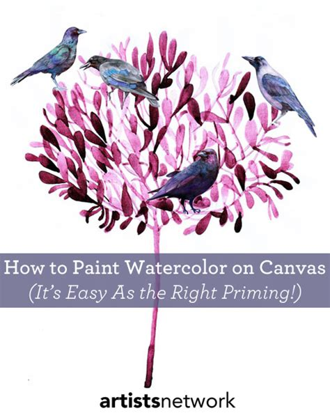 how to paint how to use a canvas for watercolor painting it s all
