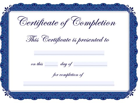 7 best images of printable certificates of completion