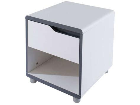Table De Nuit Conforama chevet 1 tiroir moby coloris blanc gris vente de chevet