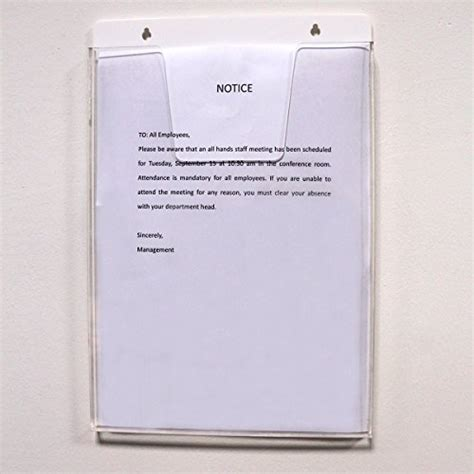 Wall Frame Acrylic A4 Model Lipat wall mount a4 clear acrylic sign holder notice message