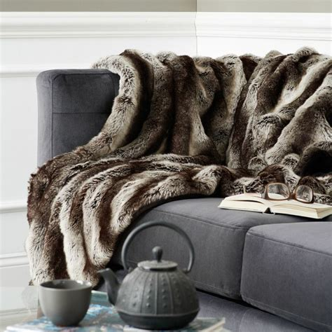 faux fur sofa throw ombre faux fur throw gray