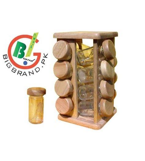 Large Revolving Spice Rack 8 Pcs Wooden Revolving Spice Rack Masala Jar