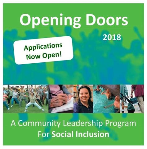 Applications For Programme Now Open by Applications Now Open For Opening Doors Leadership Program
