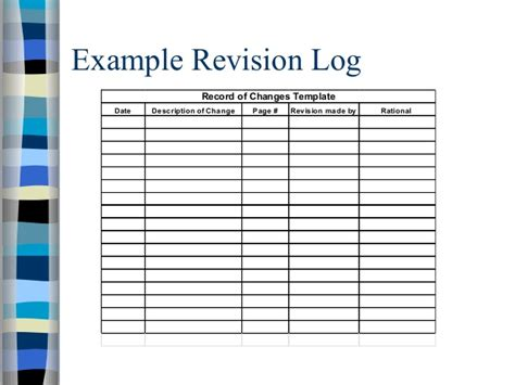 revision template policy presentation