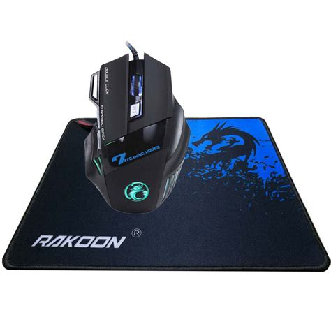 Mouse Gaming Nyk Colour Usb 5500 dpi 7 button mouse gamer gaming multi color led optical usb wired gaming mouse large gaming