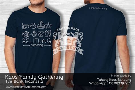 desain kaos minimalis kaos family gathering bank indonesia kaos family gathering