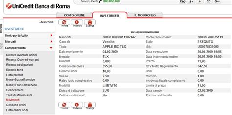 unicredit servizi on line trade on line unicredit real time free signals www dapio