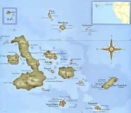 galapagos islands tourist map galapagos islands mappery