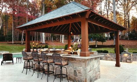 Outdoor Kitchen With Bar Design Tool Pool Pergola Plans Backyard Bars Designs