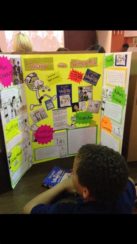 tri fold book report projects book report trifold diary of a wimpy kid education