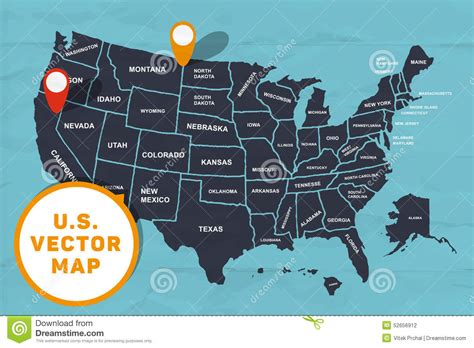 america map graphic made map of america stock vector image 52656912