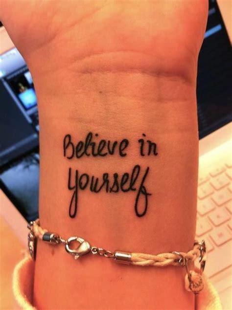 tattoo infinity believe in yourself believe in yourself tattoo wrist image 663559 on