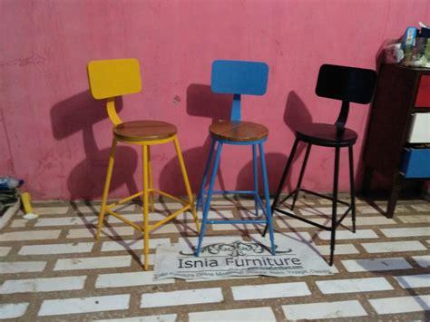 Kursi Cafe Besi kursi bar cafe besi warna warni desain collor