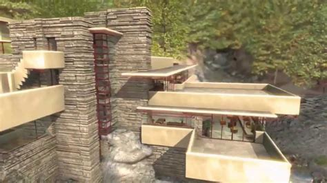 Water View House Plans by Frank Lloyd Wright Fallingwater House Over Waterfall