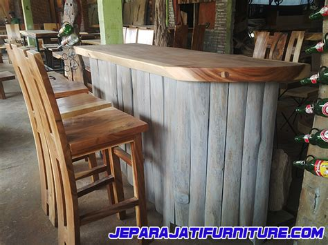 Meja Bar meja bar kayu trembesi jepara jati furniture