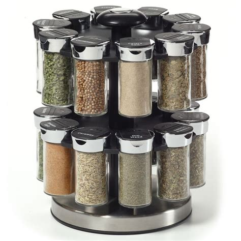 Rotating Spice Rack Organizer Spices Kamenstein Two Tier Rotating Spice Rack Ebay