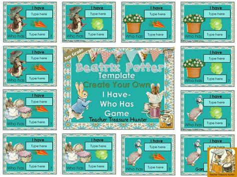 i have who has game template beatrix potter theme make