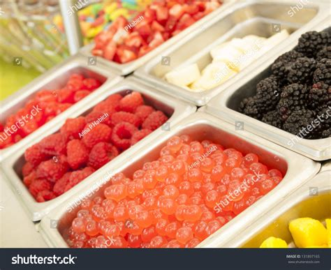 yogurt toppings bar 195 194 162 frozen yogurt toppings bar yogurt toppings ranging