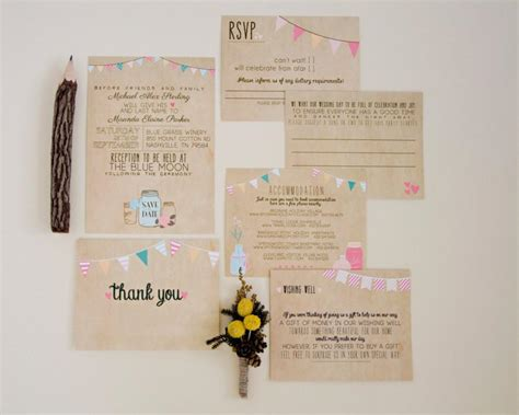 wedding invitation suite deposit printable custom diy