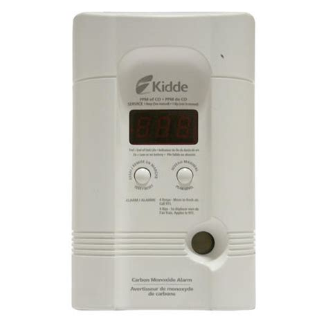 kidde in carbon monoxide alarm with digital display