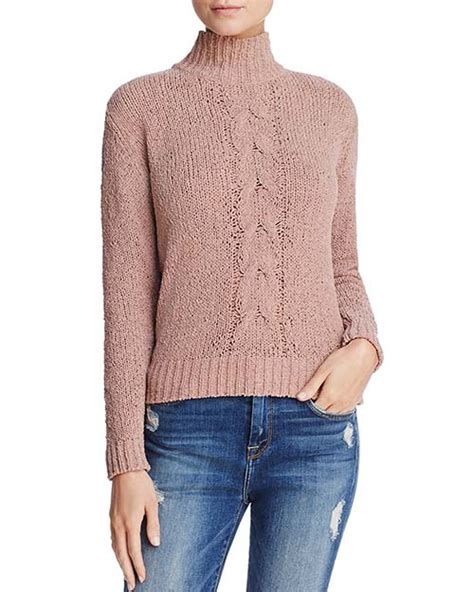 Snow Knit Top Khaki Blue 30505 best chunky turtlenecks for for winter 2018 candie