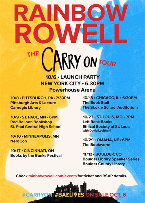 carry this book rainbow rowell carry on celebration the reading date