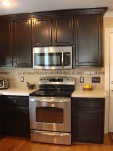 Faux finished painted and glazed kitchen cabinets traditional kitchen