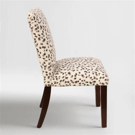 Snow Leopard Kerri Upholstered Dining Chair World Market Leopard Dining Chairs