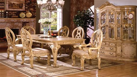 tuscany dining room tuscany iii antique white rectangular leg dining room set